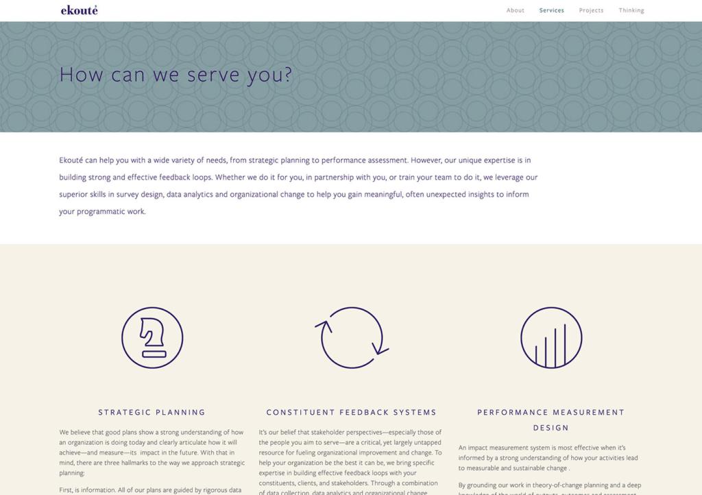 Ekoute's web services page