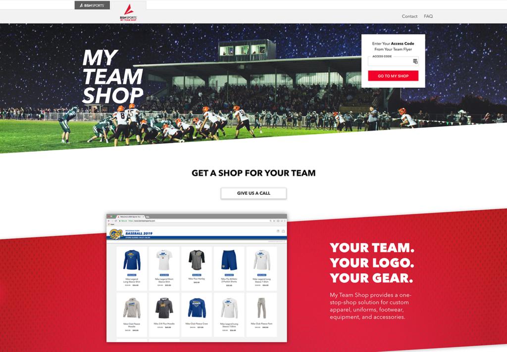 user interface of custom web app for ecommerce
