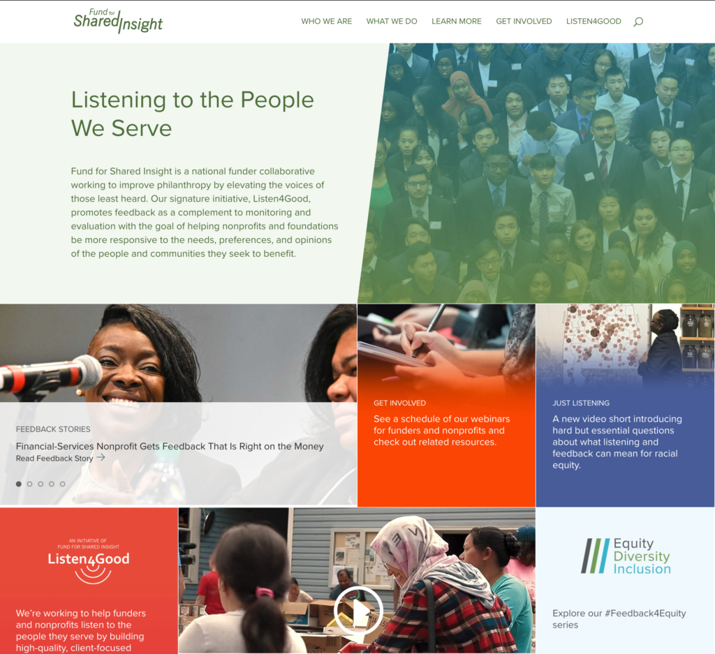 FSI's home page, web design by Dayspring